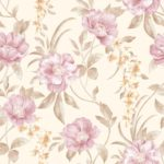 Motif Floral Wallpaper Dinding